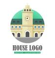 House Logo Web Button Icon vector image