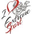 I love extreme sport Paintball player vector image vector image
