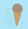 ice cream picture on bright background vector image vector image