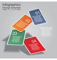 Infographic report template with cards and icons vector image vector image