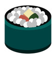 isolated sushi food vector image vector image