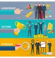 Leadership Banners Set vector image vector image