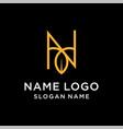 letter n leaf logo vector image vector image