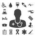 Medical icons set eps 10 vector image vector image