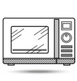 microwave oven in line art style vector image