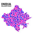 mosaic rajasthan state map of circle elements vector image vector image