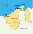 Nation of Brunei the Abode of Peace - map vector image