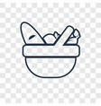 picnic basket concept linear icon isolated on vector image