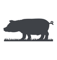 pig silhouette vector image vector image