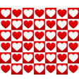 repeatable heart pattern heart background graphics vector image vector image