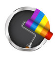 roller with paint symbol vector image vector image