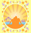 romantic love summer background card vector image