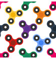 seamless texture fashionable spinners vector image vector image