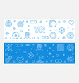 set 2 vr linear banners virtual reality vector image vector image