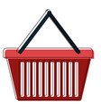 shopping basket icon in watercolor silhouette vector image vector image