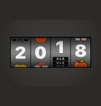 slot maching with 2018 digits happy new 2018 new vector image