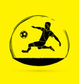 soccer player hit the ball bicycle kick vector image vector image