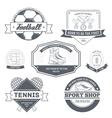 Sport set label template of emblem element for vector image