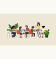 startup company team meeting focus group concept vector image