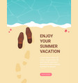 summer holidays flat design beach and business vector image vector image