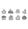 Travel journey set labels Handwritten vector image vector image