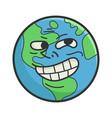 trolling meme planet earth cartoon vector image vector image