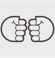 two hand clenched into a fist vector image vector image