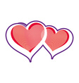 Two loving hearts Romantic rendezvous vector image vector image