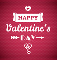 Valentine typographic design vector image vector image