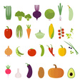 Vegetables Set Elements for cards poster and we vector image