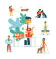 veterinary clinic concept vector image