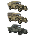 Vintage military trucks vector image vector image