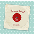 vintage record and sleeve vector image vector image