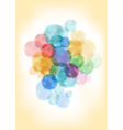 Watercolor splatters background vector image vector image
