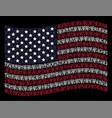 waving usa flag stylization of grapes vector image