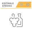 winemaking line icon vector image