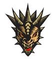 Dragons head tattoo vector image