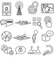 Location maps icons set vector image
