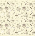 doodles coffee set for breakfast vector image