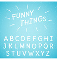 Hand drawn letters set vector image