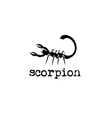 abstract scorpion design template vector image vector image