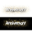 Anniversary paper banners vector image vector image