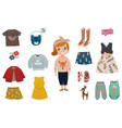 baby girl fashion icon set vector image vector image