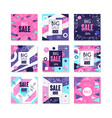 big sale banners set bright discount and vector image vector image