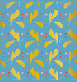 blue and gold pattern with leaf vector image vector image