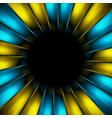 blue and yellow beams abstract background vector image vector image