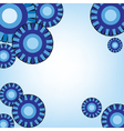 Blue background with abstract circles design vector image