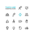 Business Training - Thick Single Line Icons Set vector image vector image