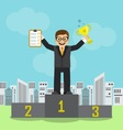 businessman achieved success and recognition vector image vector image