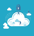 Businessman and cloud computing vector image
